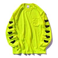 【予約商品】STANDARD LOGO Long Sleeve Pocket Tee【Neon yellow】