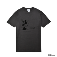 THE BEST WAVE FOR SURFING TEE - MICKEY MOUSE - /  Charcoal