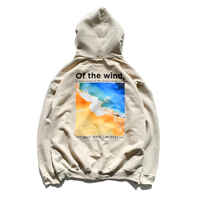 wind wave hooded sweatshirts【Sand】