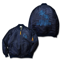Chillin'california  Embroidery MA-1 Jacket【Navy】