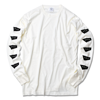 STANDARD LOGO Pigment Dyed Long Sleeve Tee【Vintage Off White】