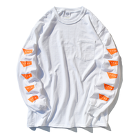 STANDARD LOGO Long Sleeve Pocket Tee【White】