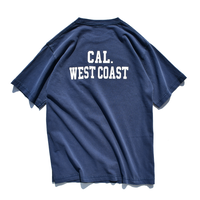 CAL.WEST COAST Pigment Dyed Pocket Tee【Vintage Navy】