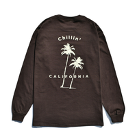 Chillin' california Long Sleeve Tee / Dark Brown