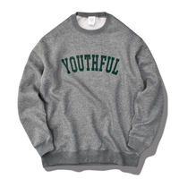 YOUTHFUL logo crew neck sweatshirt【Gray】