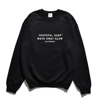 WAVE SWAY SLOW Crew Neck Sweatshirt  / Black