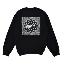 Bandana Square Logo Crew Neck Sweatshirt / Black