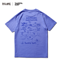 RYU AMBE ×YouthFUL SURF®  Collaboration Tee / Dusty Blue