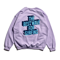 3D Graphic Crew Neck Sweatshirt / Lavender