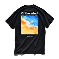 wind waves pocket  Tee  【Black】