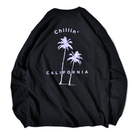 Chillin' california Long Sleeve Tee【Black】