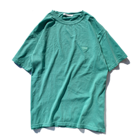 Standard logo  embroidery pigment dyed Tee【Seafoam】