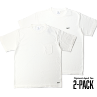 Pigment dyed 2-PACK TEE / White