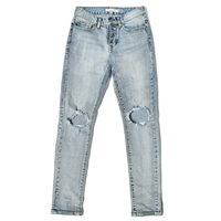 YS202  Vintage Wash Stretch  Denim Pants【Crash】