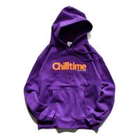 Chill time hooded sweatshirt【Purple】