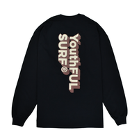 3D Logo Graphic Long Sleeve Tee / Black