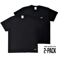 High quality 2-PACK TEE / Black