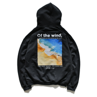 wind wave hooded sweatshirts【Black】