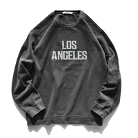 Los Angeles pigment dyed crewneck sweatshirts【Pepper】