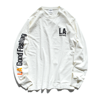 LA good feeling Gradation Pigment Dyed Long Sleeve Tee【Vintage Off White】