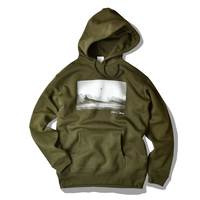 SURF IN CALIFORNIA Photo hooded sweatshirt【Olive】