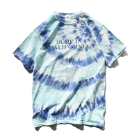 SURF IN CALIFORNIA Tie Dye   Tee【Coral reef】