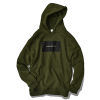 ALOHA GOOD LUCK BOX LOGO hooded sweatshirt【Army】