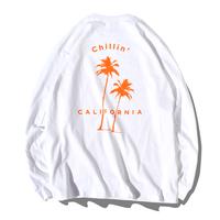 Chillin' california Long Sleeve Tee【White】