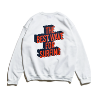 3D Graphic Crew Neck Sweatshirt / White