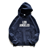Los Angeles hooded sweatshirts【Navy】