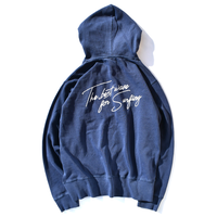 The best wave for surfing Pigment Dyed hooded sweatshirt【Vintage Navy】
