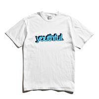 youthful logo Pigment Dyed Tee / White