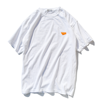 Standard logo  embroidery pigment dyed Tee【White】
