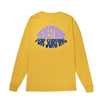 Foaming Logo Pigment Dyed Long Sleeve Tee / Mustard