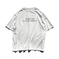 SURF IN CAL . Big Silhouette Tee  【White】