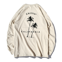 Chillin' california Long Sleeve Tee【Sand】