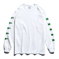 3D Long Sleeve Tee / Neon Green × White