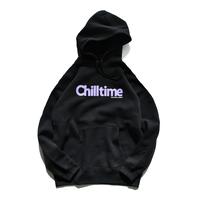 Chill time hooded sweatshirt【Black】