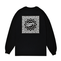 Bandana Square Logo Long Sleeve Tee / Black