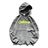 Chill time hooded sweatshirt【Gray】