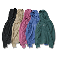 Chill Time Pigment Dyed hooded sweatshirt