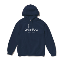 aloha hooded sweatshirt / Navy