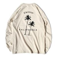 Chillin' california Long Sleeve Tee【Sand】