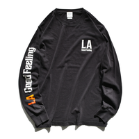 LA good feeling Gradation Pigment Dyed Long Sleeve Tee【Vintage Black】