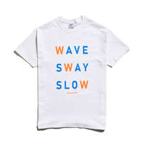 WAVE SWAY SLOW Tee / White