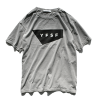 YFSF STANDARD Logo Pigment Dyed Tee【Gray】
