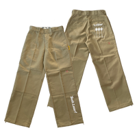 DOWBLE KNEE STRING WORK PANTS KHAKI