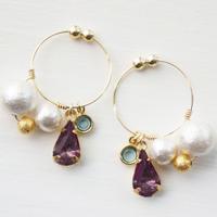 ヴィンテージガラス earring 03