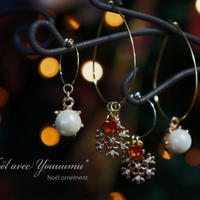 【Noël avec Youuumu*】 Noël Ornement pierce/earring