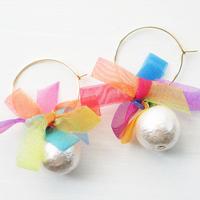 rainbowflower pierce hoop